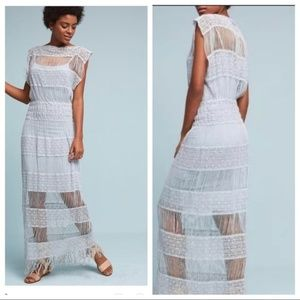 Anthropologie Dresses - Anthro Amelia Crocheted Maxi Dress by Callahan